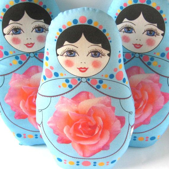 Matryoshka Russian Doll Plush large size by zouzoudesign on Etsy, $23.50