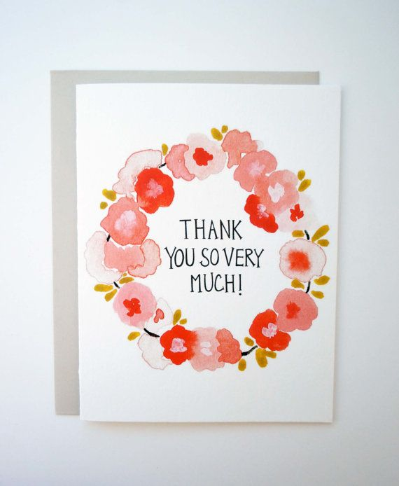 Thank You So Very Much set of 4 cards from Kate's Paper Goods $10