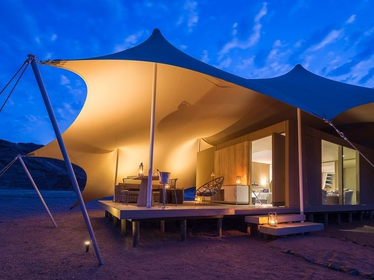 These eight architecturally stunning tents have poured-concrete floors, white linens, and exquisite food. Plus, the camp is in one of the most remote locations in Africa, perfect for an electronics detox.