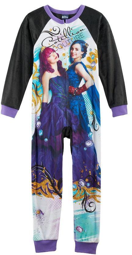 Disney's Descendants Mal & Evie Girls 6-12 One-Piece Pajamas (affiliate)