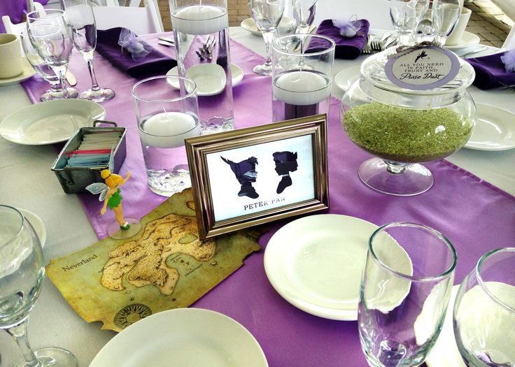 185 best images about peter pan party on pinterest for Disney themed wedding centerpieces