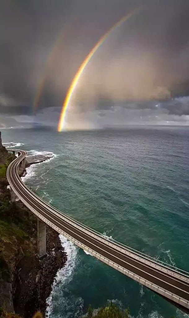 The Sea Bridge.. not far South of Sydney..   Beautiful drive on the New South Wales Coast.. Australia