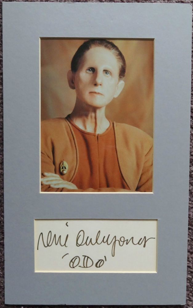 Rene Auberjonois. Odo Star Trek Hand Signed Autograph 8 x 13 Photo Display