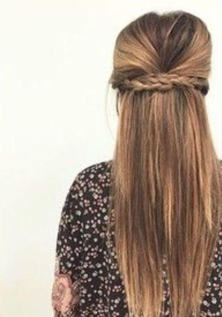 Half Up Half Down Braid Braid Halboffen Hair Styles Long Hair Styles Hairstyle