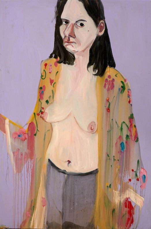 Birthday Self-Portrait, 2015, Chantal Joffe (American, born 1969)
