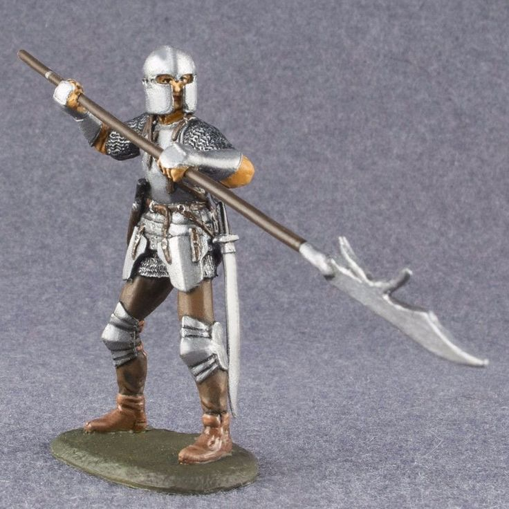Painted Toy Soldiers 1/32 scale Medieval Knight English infantry 54mm tin figure #Roninminiatures