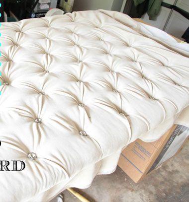 DIY Upholstered tufted headboard tutorial // Bútor kárpitozás - mélytűzés lépésről-lépésre // Mindy - craft tutorial collection // #crafts #DIY #craftTutorial #tutorial #DIYFurniture