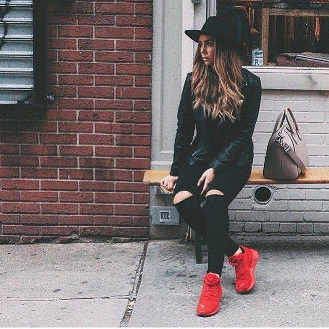 Pop of color sneakers