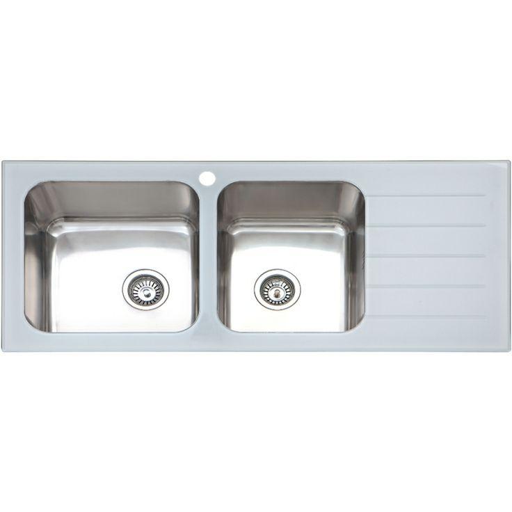 Sink Monda 1 3/4 White Glass Lh 405603 - Bunnings Warehouse ...
