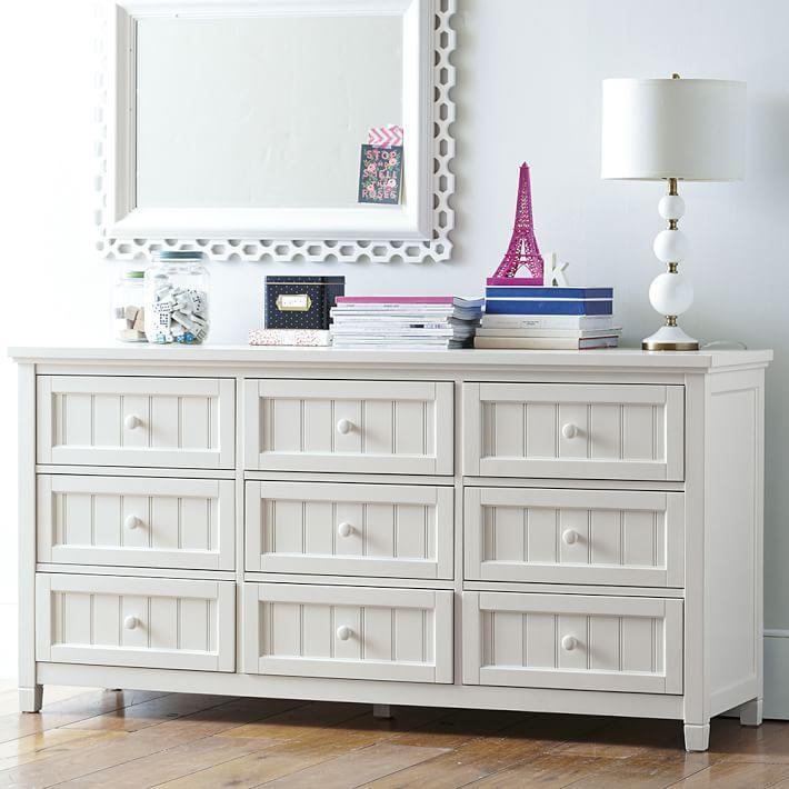 Beadboard 9 Drawer Dresser
