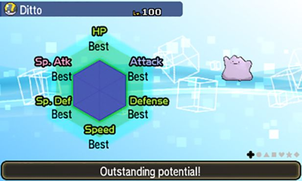 Breed the perfect Pokemon for your game with these Perfect 6IV Ditto! Bred Pokemon inherit IVs from the parent Pokemon and combined with a Destiny Knot, your offspring Pokemon will be at their maximum potential.