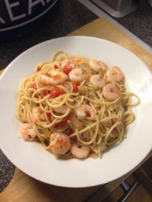 One pot prawn spaghetti (slimming world friendly)