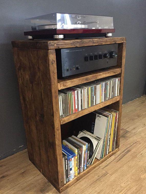 Hi Fi Stereo Cabinet Stereo Cabinet Etsy Vinyl Record Storage Ikea Stereo Cabinet Vinyl Storage