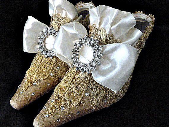 Zapatos de Novia de Marie Antoinette... Zapatos de encaje de