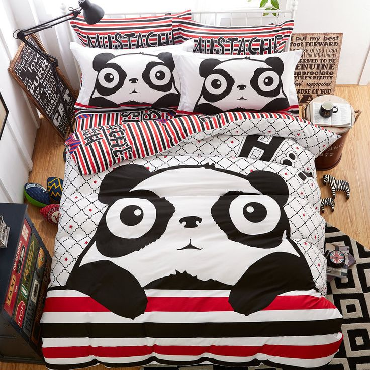 Panda Bears are adorable, and this cute bedding set is too! Check it out at our FabBedding online store. #fabbedding #fabulous #bedding #pandabear #panda #kids #teens #boys #girls #homedecor #beddingset #hi #surprise