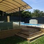 Frameless glass pool fence Sydney