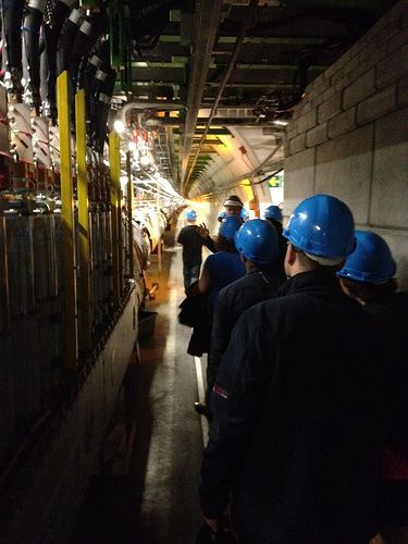 #cerntweetup members in the LHC tunnel