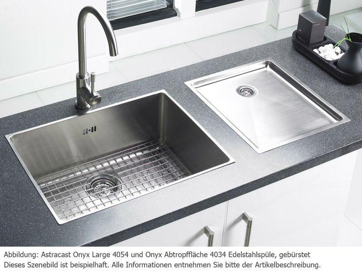 Astracast Onyx Large 4054 Edelstahl-Spüle gebürstet für 178,90 EUR ... | {Spülbecken edelstahl gebürstet 6}