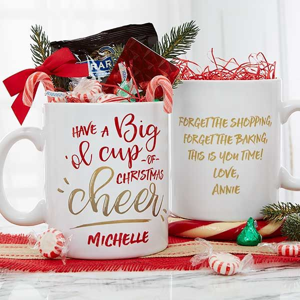 Christmas Cheer 30oz Personalized Christmas Mug Cheap Christmas Gifts Personalized Christmas Mugs Coffee Gifts