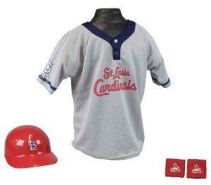 St. Louis Cardinals Baseball Helmet and Jersey Set