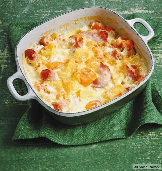 Kartoffel-Kasseler-Gratin