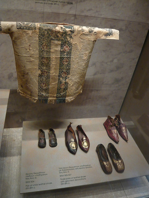 Coptic cloth from Byzantine Museum in Athens.