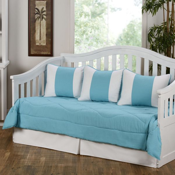 This lovely Cabana Turquoise daybed comforter set features ...
