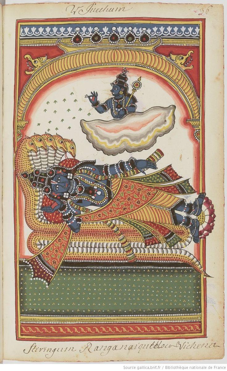 Figures coloriées de divinités hindoues   Gallica