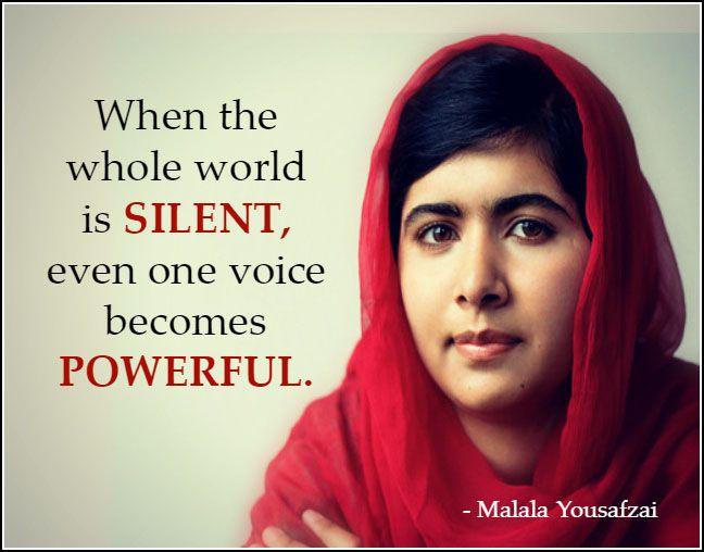 Powerful Malala Yousaf...