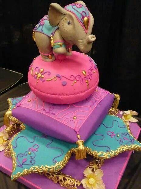 Bohemian Elephant Cake