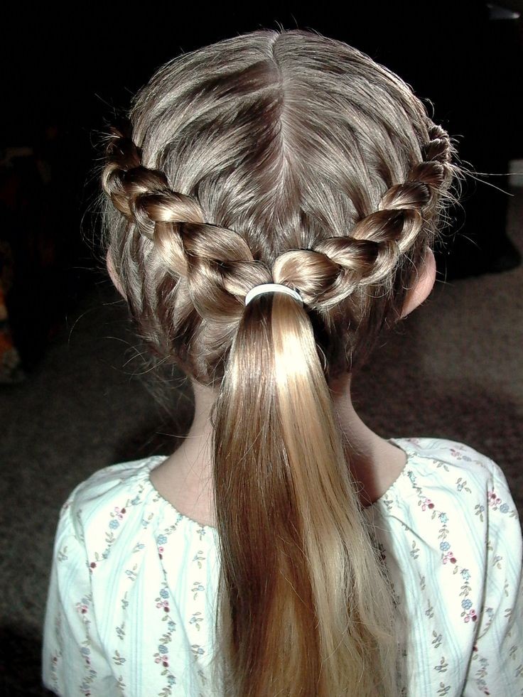 French Braids into Ponytail | Braided hair | Pinterest ...