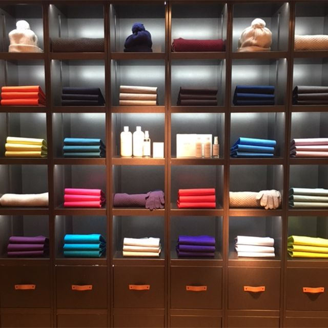 Our Brook St store's Wall of Colour for our AW16 range