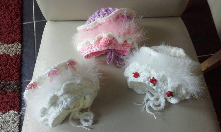 Baby  girl bonnet, crochet baby bonnet, newborn girl bonnet, baby girl hat, ready to ship by crochetfifi on Etsy
