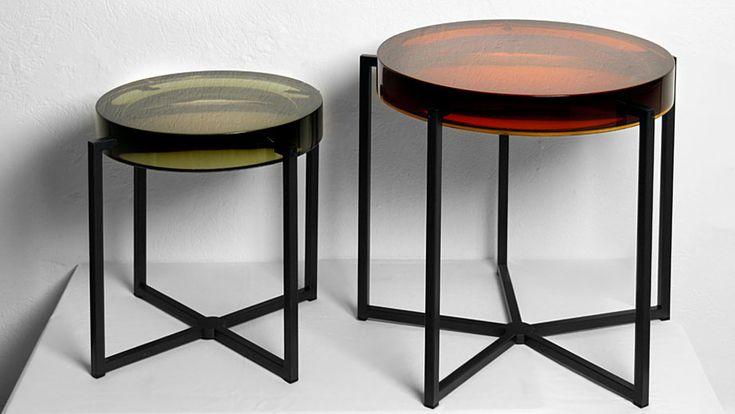 bryan mc collin table basse ronde mod le ambers lens ed mcb londres pi tement m tal. Black Bedroom Furniture Sets. Home Design Ideas