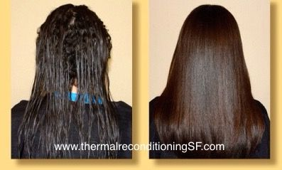 Caryn. Before and after thermal reconditioning retouch. (www.thermalreconditioningSF.com) #thermalreconditioning
