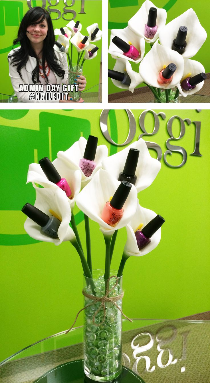 Keeping it simple kisbyto national bosses day - I Wanted To Make Our Admin A Nail Polish Bouquet For Administrative Professionals Day But I Couldn T Find One That Was Cute Enough So I Made One Of My Own