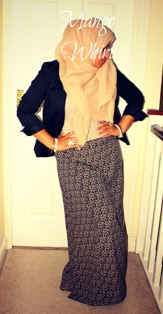 mangowhirl modest hijab fashion maxi skirt blazer