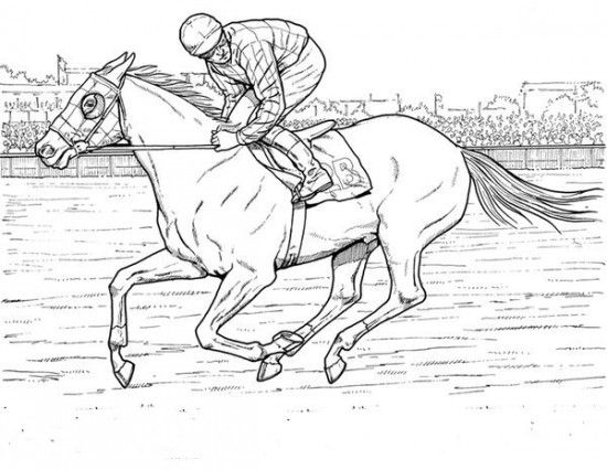 Kids Horse Racing Coloring Pages | Horse Decor | Pinterest ...