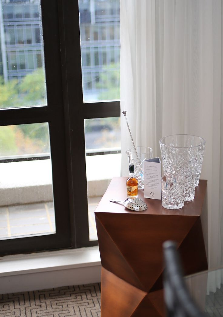 Old Fashioned Cocktail station in the Junior Suite 906 at QT Canberra #qthotel #canberra #roomcritic