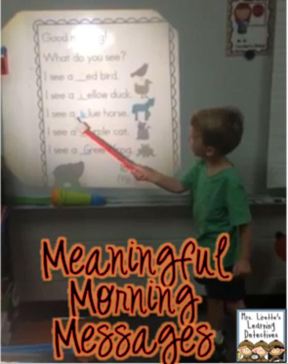 morning messages for Kindergarten