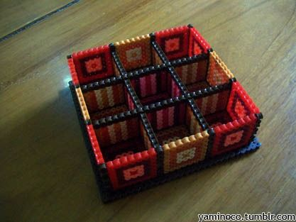 Organizer box with 9 compartments. | Hama & Perler Beads ...