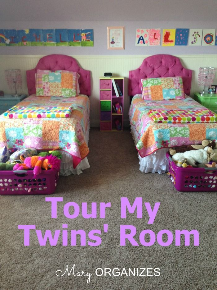Tour My Twin Girls' Room http://maryorganizes.com/2014/03/tour-my-twin-girls-room/