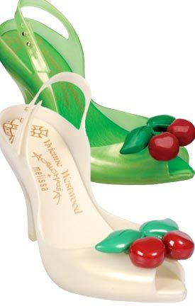 Vivienne Westwood Melissa Lady Dragon Cherries #Melissa #shoes #flats                                                                                                                                                     More #JellyShoes