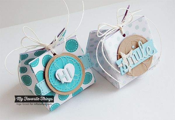 Patterned Paper : One Sheet Boxes