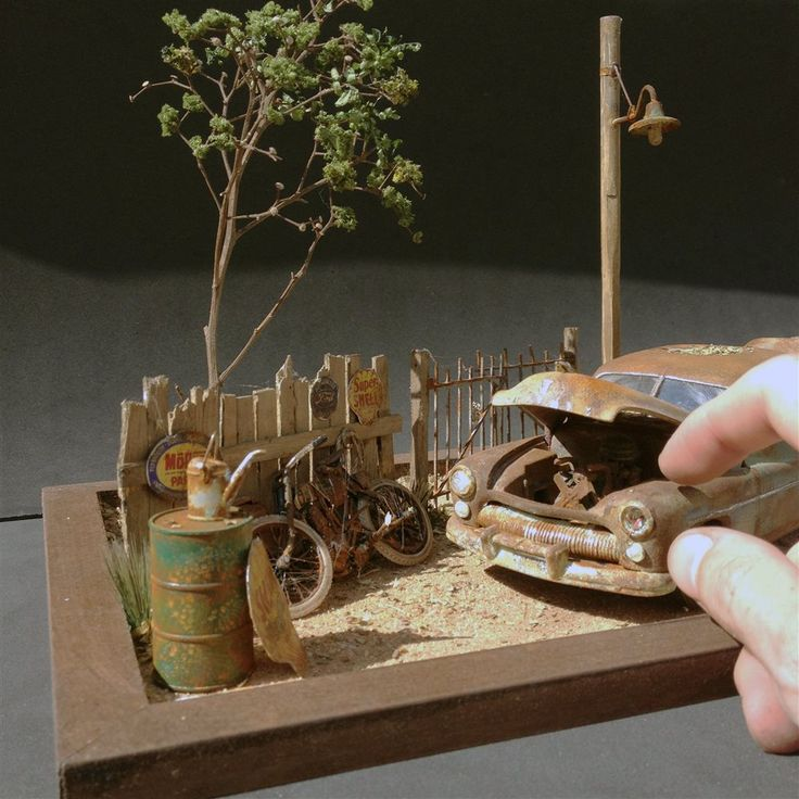 Rusty Ranch Diorama - Scale Auto Magazine - For building plastic & resin scale model cars, trucks, motorcycles, & dioramas