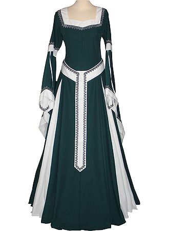 dornbluth.co.uk - medieval dresses  Wonderful! love the colors on this one