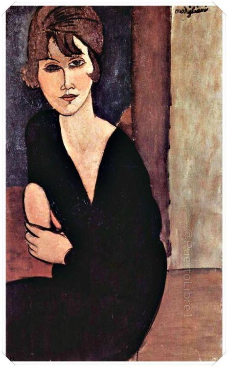 "Amedeo Modigliani - ""Portrait of Madame Reynouard"", 1916."