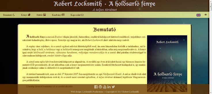 A képen a honlap bemutatkozó oldala látható, ahol többek között olvasni lehet az alkotásról, létrejöttének körülményeiről és előzményeiről.