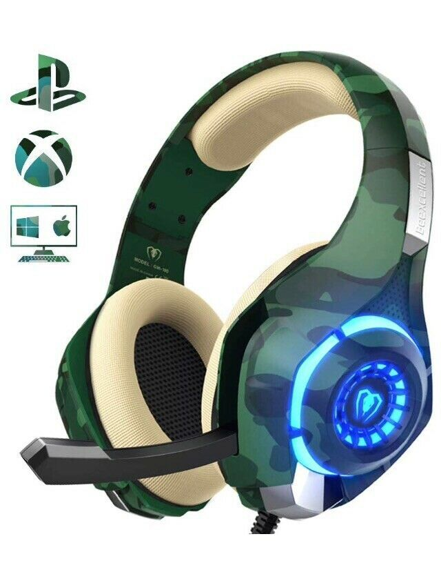 Beexcellent Pro Gaming Headset Camo GM-100 | eBay | Wants in 2019