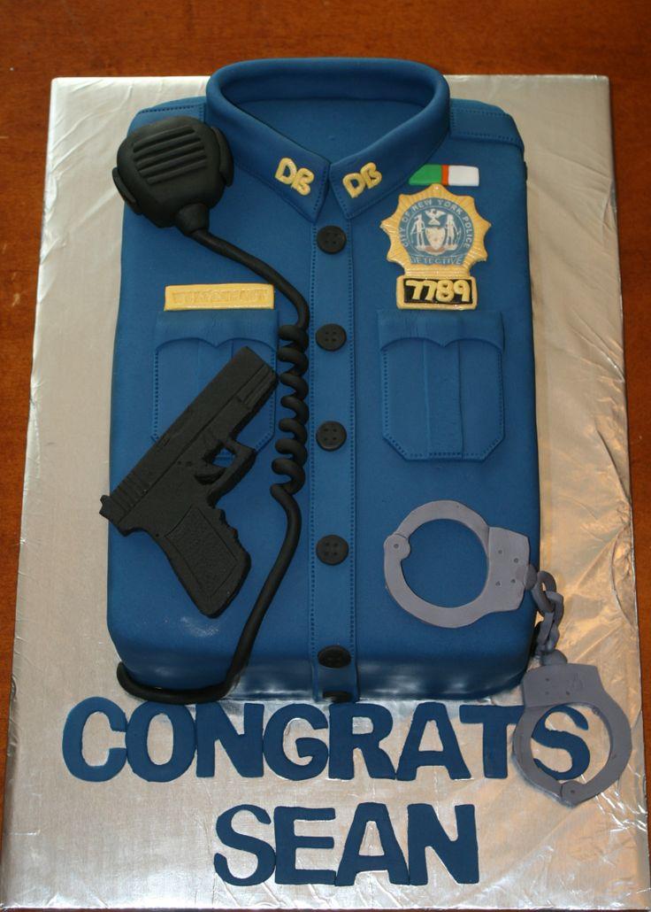 Police Detective cake by KB Cakes www.KBCakes.me www.facebook.com/kbcakes